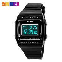 Skmei 1136 popular чорні наручний годинник, фото 1