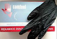 Нитриловые перчатки плотные Черные Италия