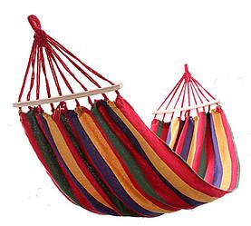 Мексиканский подвесной гамак с планками Original 2х1 м Разноцветный RI0412, КОД: 1562939