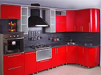 Дизайнерская кухня на заказ из ламинированного ДСП
