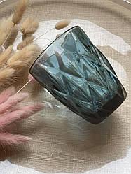 Склянка з кольорового синього скла Ізольда 250 мл