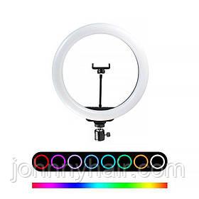 Лампа кільцева RGB d10 (170 діодів) 26 см
