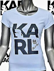 Футболка женская KARL LAGERFELD,копия класса люкс.Турция