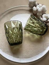 Склянка з зеленого кольорового скла Ізольда 250 мл