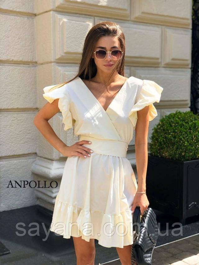 Жіноче плаття з рюшами, в кольорах. НП-9-0621