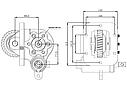 Коробка отбора мощности (КОМ) MSA 5P, 5D, 5G, 5F для ISUZU , фото 2