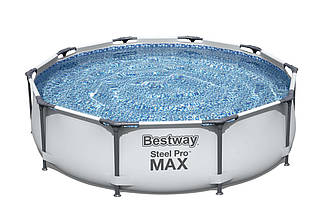 Каркасный прямоугольный бассейн Bestway 305х76см steel pro max 26356 с фильтром, Большой для всей семьи, фото 3