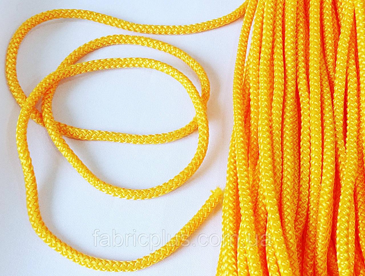 Шнур  п/э  5 мм  желтый