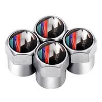 Захисні ковпачки на ніпель для BMW M Alitek Short Silver, 4 шт