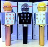 Беспроводной микрофон караоке WSTER WS-1688 с динамиком, Портативный караоке USB микрофон, фото 4