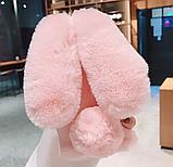 Чохол плюшевий кролик з вушками для Xiaomi Poco X3 NFC, фото 8