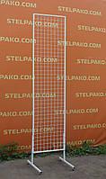 Сетка торговая в рамке на ножках 200х50 см (15х15 мм.)