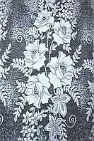 "Отрез (3х1,2м.) ткани, остаток с рулона. Жаккард, ""Jak-1"". Цвет белый. Код 696ту 00-579"