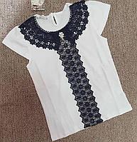 Школьная блузка для девочки оптом 140-176 молочная
