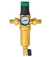 """Фильтр самопромывной SD Forte 1/2"""" с редуктором для горячей воды SF128W15H"""