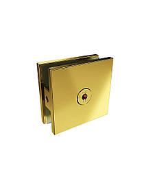 ODF-01-29-10 Крепление стекла к стене 90 градусов с внутреннем креплением к стене, цвет золото