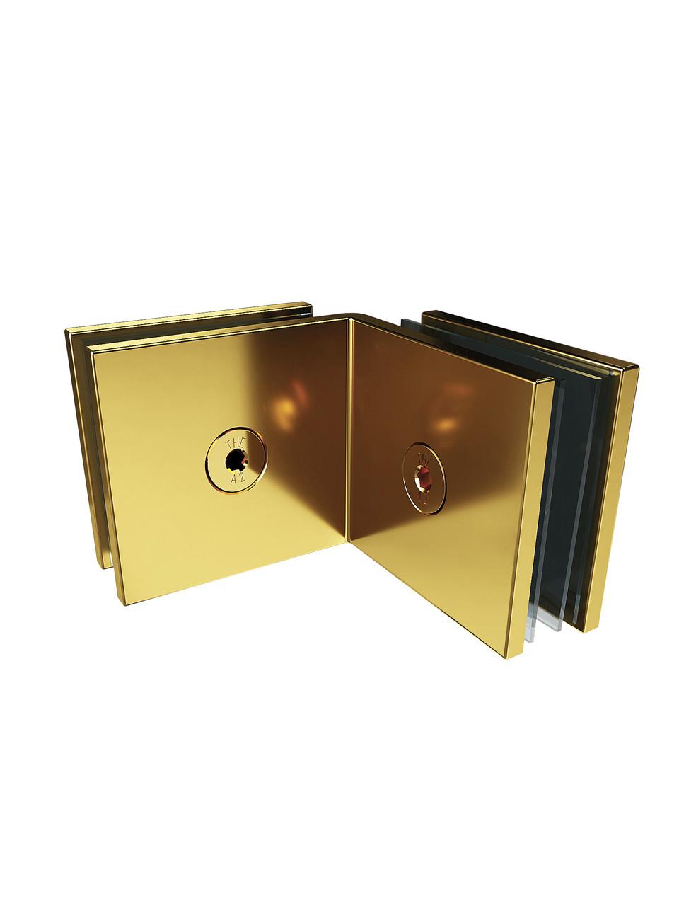 ODF-01-21-10 З'єднання скло-скло 90 градусів, колір золото
