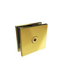 ODF-01-17-10 Соединитель стекла 180 градусов (через полу-отверстие), цвет золото