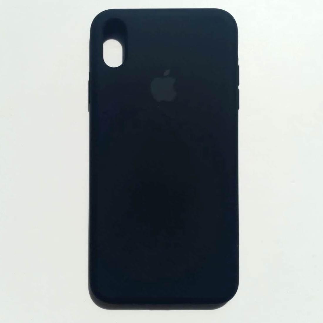 Чехол-накладка Silicone Case для Apple iPhone XS Max Black