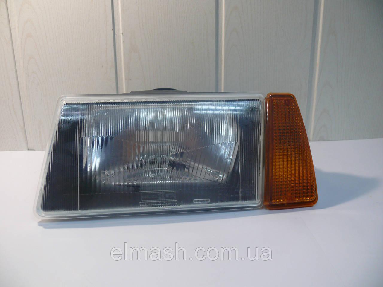 Фара левая с оранжевым указателем (внутри черный корпус) ВАЗ 2108,-09,-099 (пр-во Формула света)
