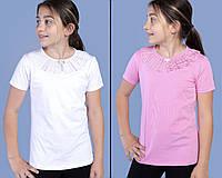 Шкільна блузка для дівчинки оптом 6-13 років біла, фото 1