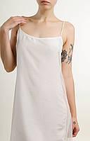 Женская ночная сорочка белая с боковой прозрачной вставкой (рубашка)