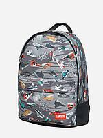 Спортивный городской рюкзак  Sneakerhead серый (рюкзаки молодежные, велосипедный рюкзак, рюкзаки городские), фото 1
