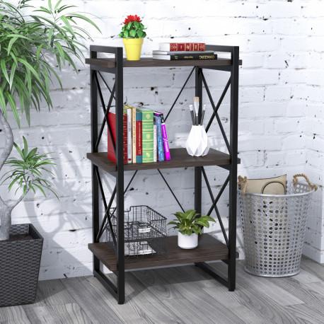 Стеллаж Loft Design Скиф-3-550 Венге Каркас черный