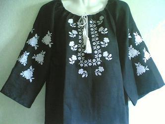 Жіноча вишиванка, льон, фото 2
