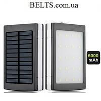 Мобильное солнечное зарядное устройство Power Bank Solar+led 6000S, зарядка Павер Банк Солар Лед 6000)