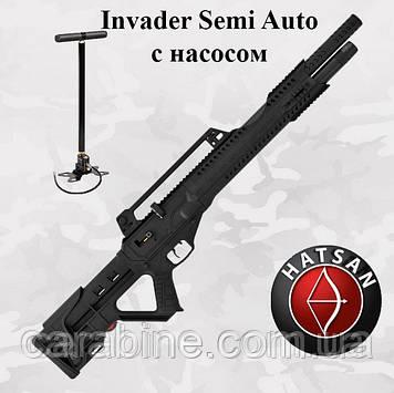 Пневматическая винтовка Hatsan Invader Semi Auto PCP с насосом (Хатсан Инвейдер)