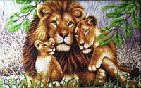 схема для вышивки бисером Львиная семья