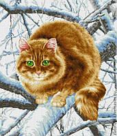 схема для вишивки бісером Кіт на гілці