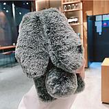 Чехол кролик плюшевый с ушками для Xiaomi Redmi Note 9, фото 4