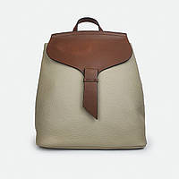 Рюкзак женский из натуральной кожи коричнево-бежевый 81072