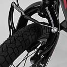 """Самокат Corso МХ 10700 колеса надувные, переднее 16""""/заднее 12"""", ручной передний тормоз, фото 4"""