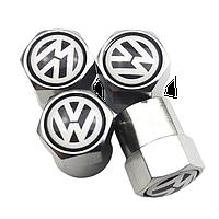 Ковпачки на ніпель для Volkswagen Alitek Short Silver (4 шт)