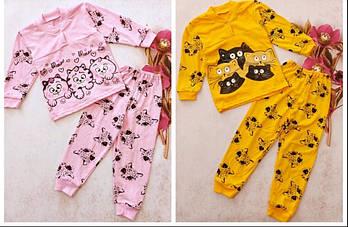 Пижама детская для девочки и мальчика 2-6 лет