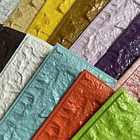 Набір зразків М'які 3Д-панелі під цеглу різного кольору самоклеючі 3d панелі ПВХ цегляна кладка на стіни