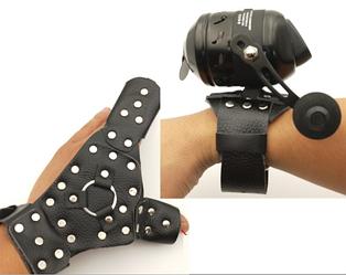Перчатка и ремешок на руку для боуфишинга кожанные