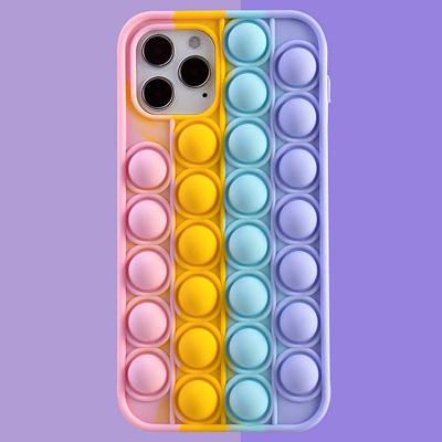 Разноцветный чехол Антистресс вечная пупырка чехол на Apple iPhone 12 Pop IT ХИТ ГОДА