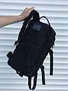 Качественный военный рюкзак, черный 25 л., фото 4
