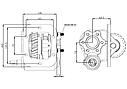Коробка отбора мощности (КОМ) 2845.6, 2855.6,  2865.6 для IVECO, фото 2