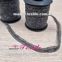 Долевик нитепрошивной с цепным стежком 12 мм,100м (серый)