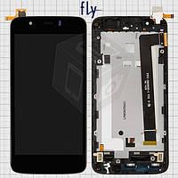 Дисплейный модуль (дисплей + сенсор) для Fly IQ442Q Miracle 2, черный, оригинал