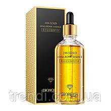 Сыворотка для лица с нано-золотом и гиалуроновой кислотой Bioaqua Gold, 100 мл