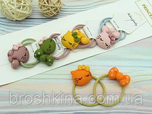 Дитячі резиночки для волосся 5 пар/уп. Кітті