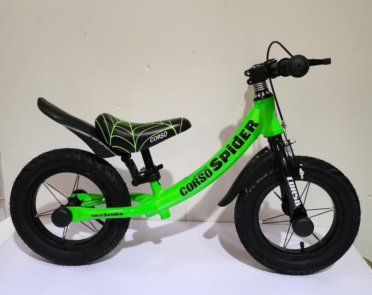 """Беговел для малюків з надувними колесами, підніжкою і регулюванням по висоті CORSO """"SPIDER"""" 75123"""