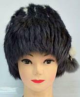 Женская зимняя шапка из натурального меха кролика