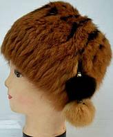 Женская меховая шапка - мех кролика